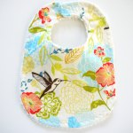 Spring Blooms and Hummingbird Baby Bib