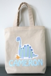 Dino Personalized Reversible Children Tote Bag